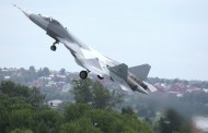 The PAK FA (T-50), Russia's new fifth-generation fighter, sets new standards of excellence during a routine test flight