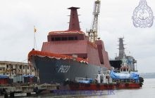 Advanced Offshore Patrol Vessel built for Sri Lanka Navy is launched in Goa, India