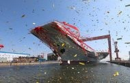 China Launches First Home-Built Aircraft Carrier in Display of Growing Naval Power