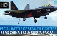 Special Battle of Stealth Fighters: F-35 vs China J-31 & Russia PAK-FA