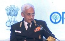 Navy Chiefs of India, Japan, Australia and US Share dias at Raisina Dialogue 2018 in Delhi