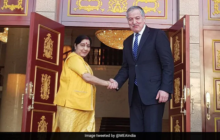 Sushma Swaraj Reaches Tajikistan for Shanghai Organisation Conclave