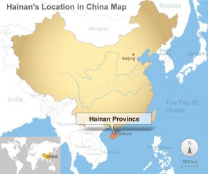 hainan island china map