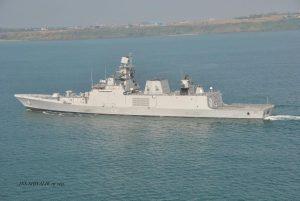 INS Shivalik at sea