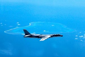 Chinese H-6K bomber parols South China Sea (Image Courtesy: houstonchronicle)