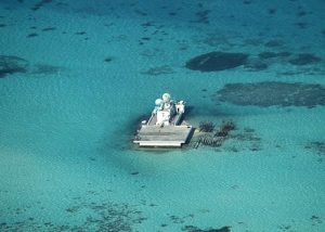 Chinese reclamation work on Johnson South Reef (Image Courtesy: BBC)