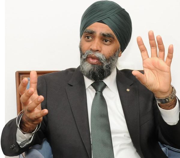 Canadian arms-makers looking to expand in India: Def Min Harjit Singh Sajjan