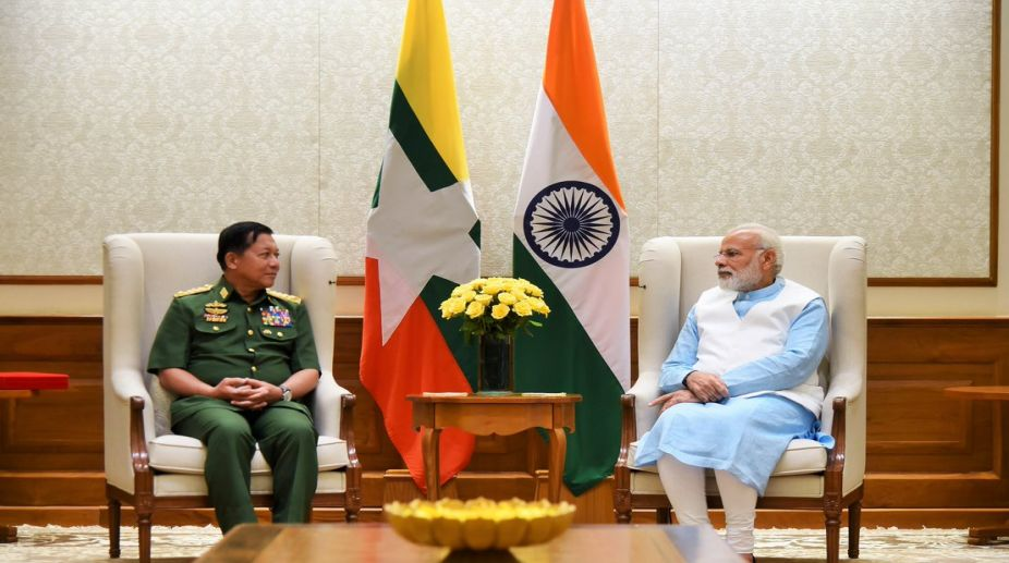 Myanmar Military Chief Meets PM Modi