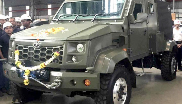Tata's Hummer Styled Vehicle For Indian Army Enters Production