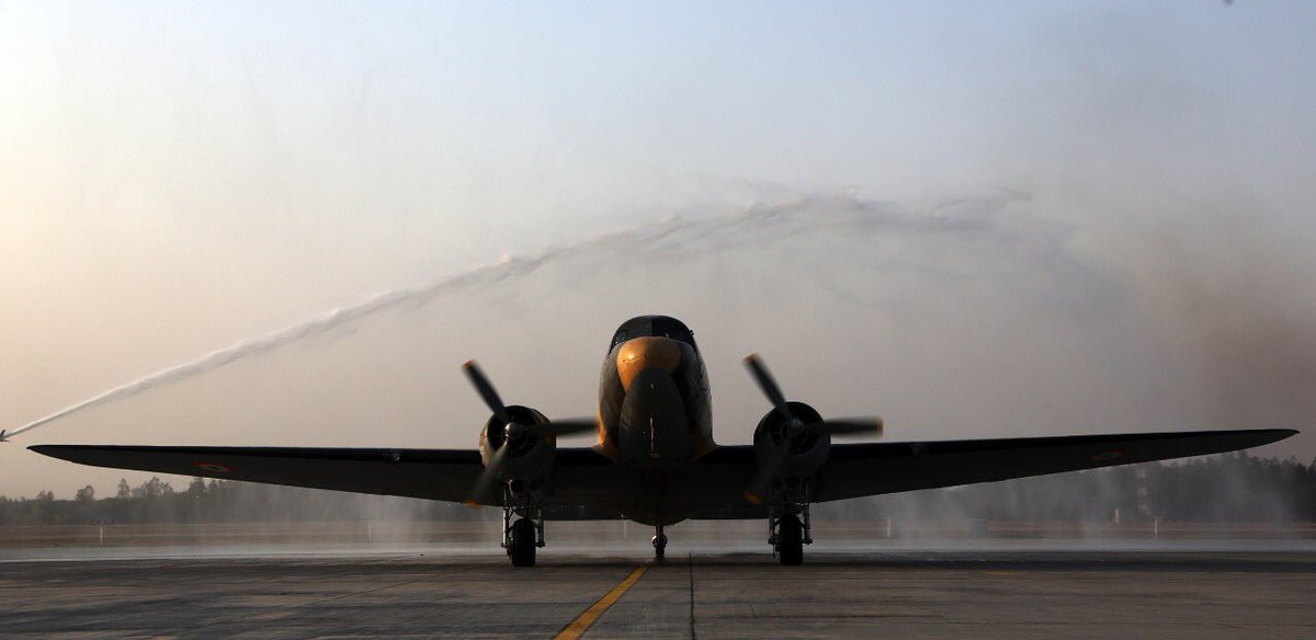 A Gift of Heritage – The Dakota DC 3 VP 905 Parashurama is Inducted Into the Indian Airforce's Vintage Flight