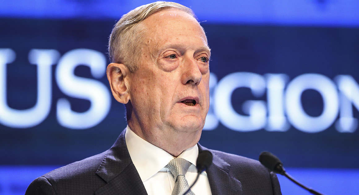 U.S. Will 'Compete Vigorously' in South China Sea, Mattis Warns Beijing