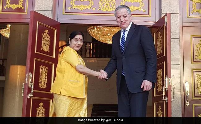 Sushma Swaraj Reaches Tajikistan for Shanghai Organisation Conclave