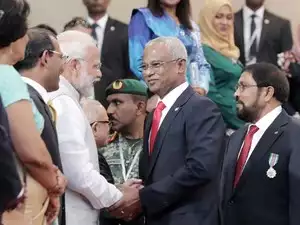 PM Modi Arrives in Maldives to Attend President-Elect Ibrahim Mohamed Solih's Inauguration