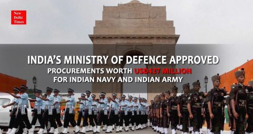 India's Ministry of Defence to Procure Equipments worth USD427 Million