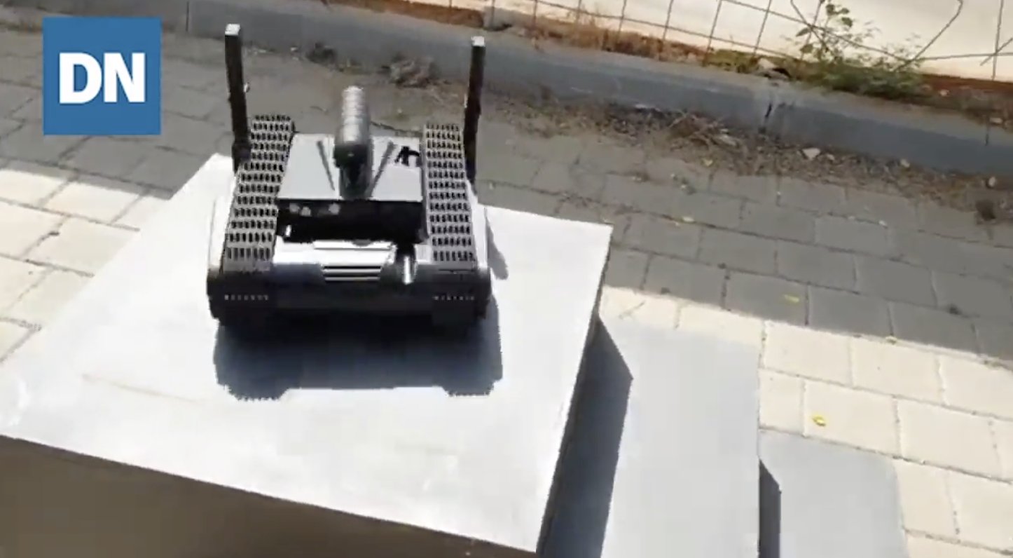 Watch This Israeli Robot Face Off Against a Marksman in a Live-Fire emo