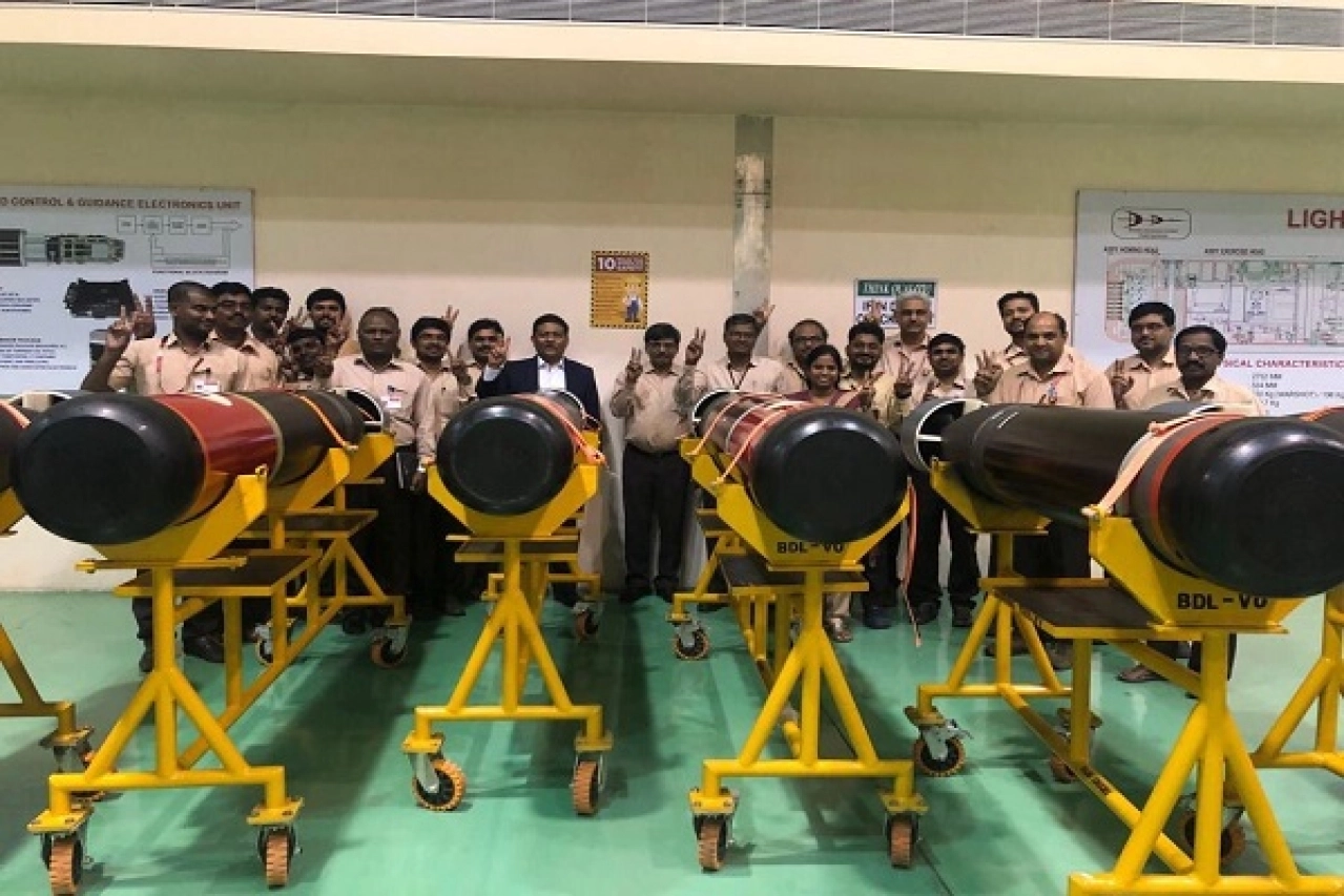 Defence Make In India: First Batch of Lightweight Anti-Submarine Shyena Torpedoes Sent to Myanmar