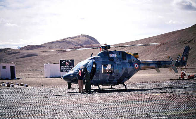On trial, light-utility copter lands in Ladakh