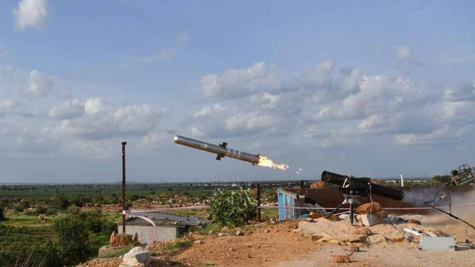 India Successfully Test Fires Man Portable Anti-Tank Guided Missile System