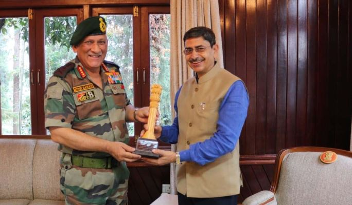 Chief of Army General Bipin Rawat Visits Nagaland, Meets Governor RN Ravi