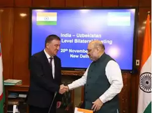 Uzbekistan Home Minister meets Amit Shah; sign agreement to counter terror