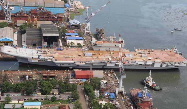 Navy pushes for early delivery of aircraft carrier INS Vikrant