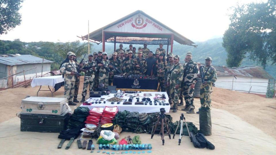 AK-47, M-16, Grenade Launcher Recovered in Aizawl, BSF says Dumped by Myanmar Rebels