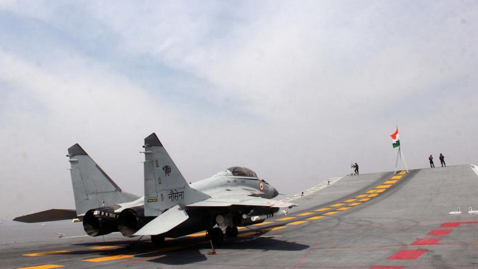 Naval Version of Tejas LCA Lands on INS Vikramaditya for First Time