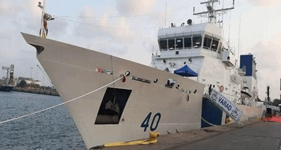 Indian Coast Guard Off Shore Patrol Vessel ICGS Varad Commissioned