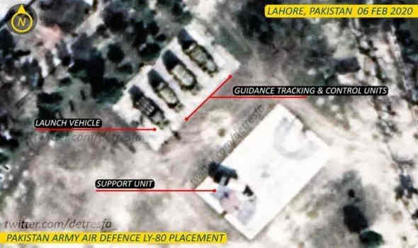 Pakistan Move Surface to Air Missile to Border with India - Shock Satellite Pictures