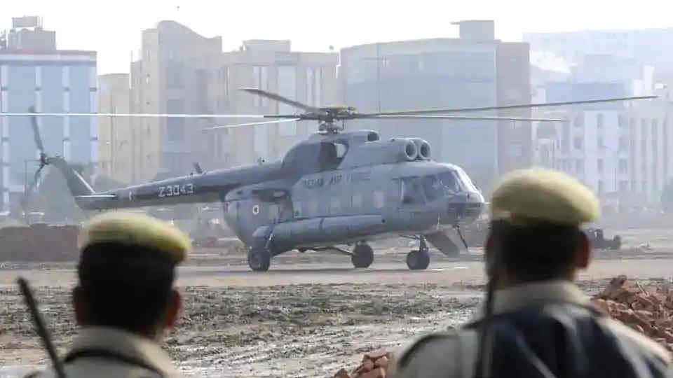 IAF Chopper on Covid-19 Duty Makes Precautionary Landing on Expressway