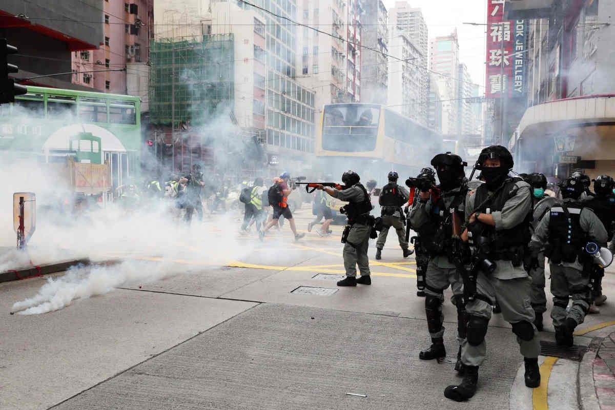 Tear Gas Fired, Arrests Made as Thousands Protest Against Beijing's Panned National Security Law for Hong Kong