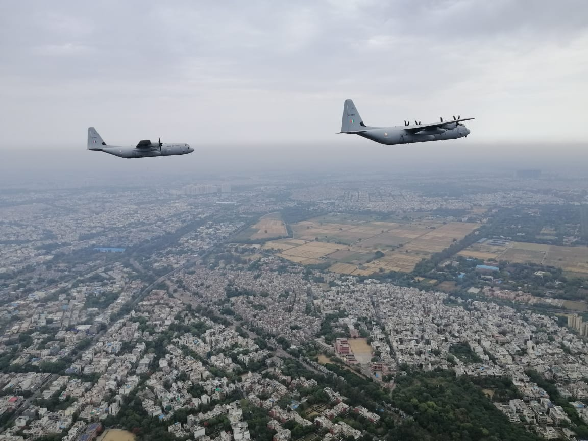 Kashmir to Kanyakumari: Air Force C-130s Salute Corona Warriors in Non-Stop Flight