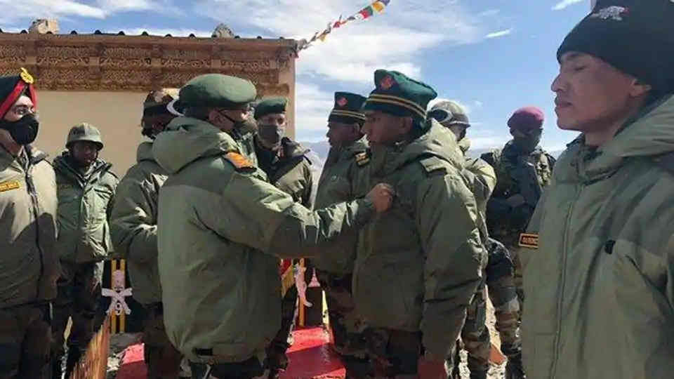 In Visit to Forward Areas in Eastern Ladakh, Army Chief Commends Troops for High Morale