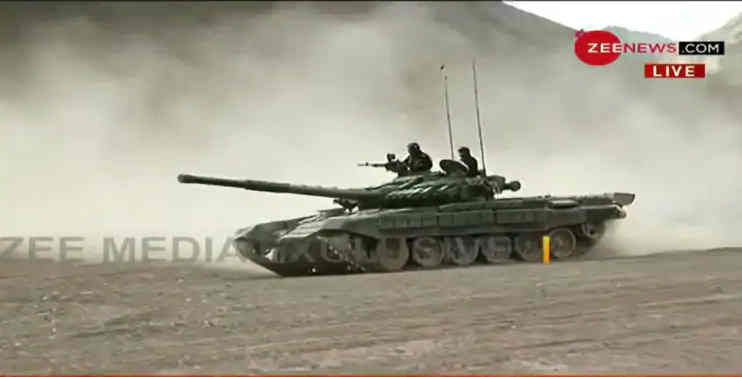India Deploys T-90 Bhishma Tank in Ladakh Amid Border Row with China at LAC