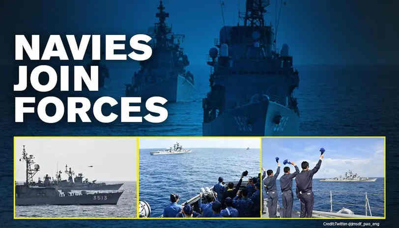 Indian and Japan Navies Join Forces Amid China's Aggression, Conduct Joint Exercises