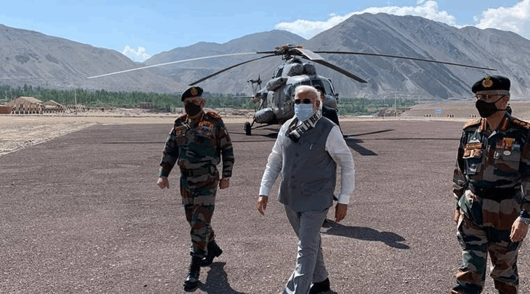 PM Modi Visits Leh to Take Stock of India-China order situation