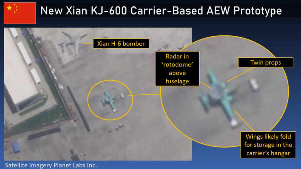 First Image of China's New Carrier-Based AEW Plane