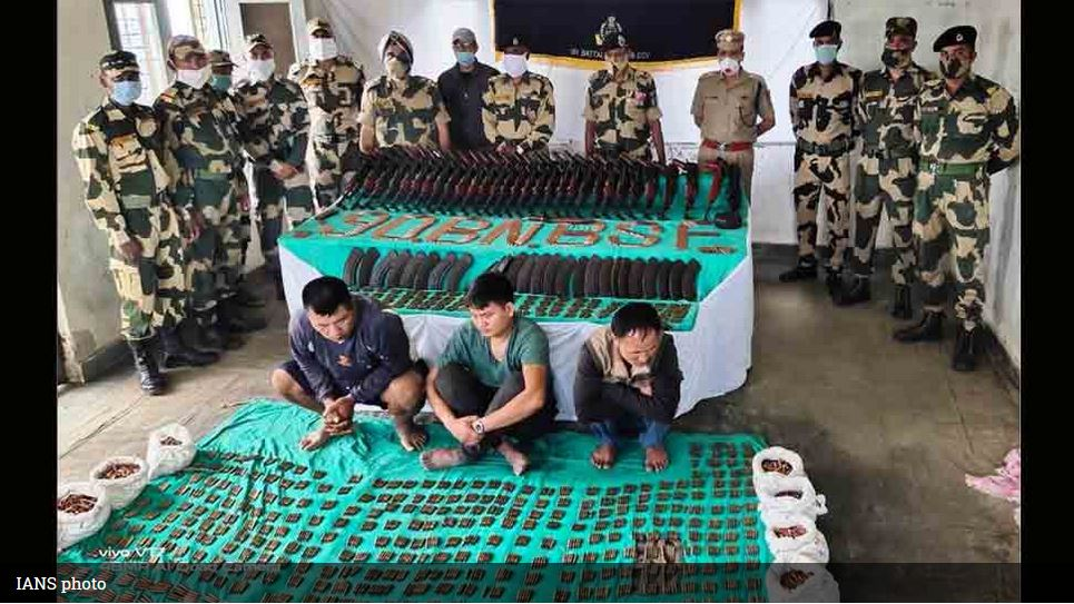 Attempt to smuggle arms into India: BSF seizes 28 rifles, 7894 ammunition meant for northeast insurgent groups