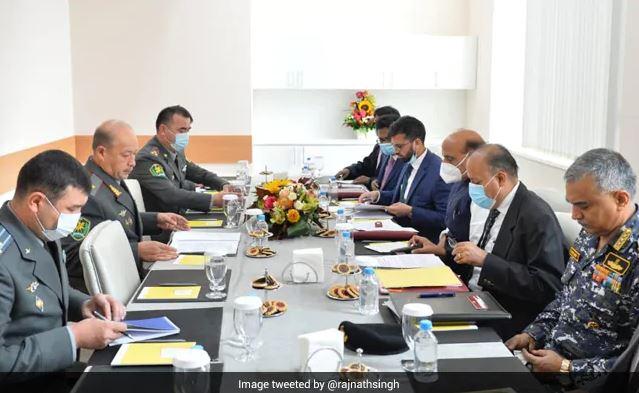 Rajnath Singh Holds Defence Talks With Uzbek, Kazakh And Tajik Counterparts