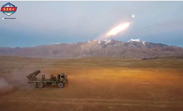 PLA tests truck-based rocket-propelled mine launchers in plateau region