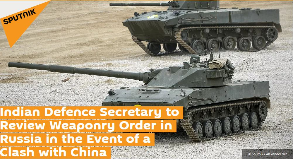 Indian Defence Secretary to Review Weaponry Order in Russia in the Event of a Clash with China