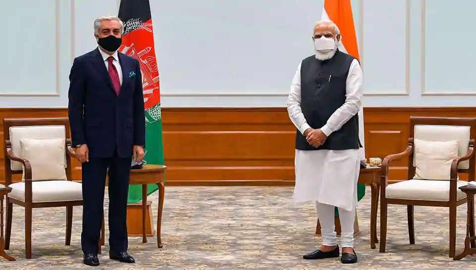 PM Modi Assures Abdullah Abdullah of India's Support for Afghan Peace Process