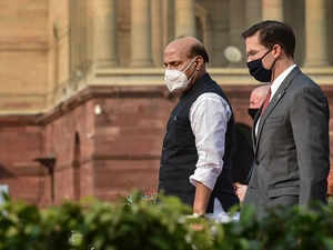 Defence Minister Rajnath Singh Holds Talks with his US Counterpart Mark T Esper