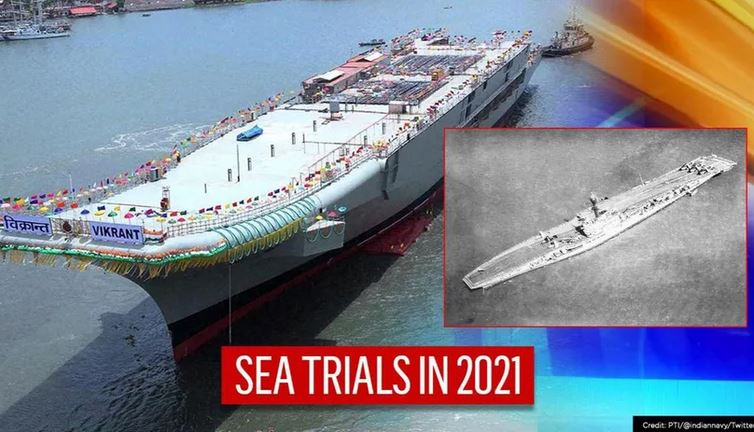 Sea Trials Of India's First Indigenous Aircraft Carrier Vikrant Set To Begin In Jan 2021