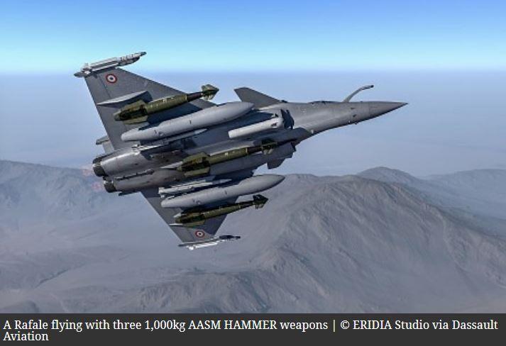 'Bunker buster' for Rafale: Fighter tests 1,000kg version of HAMMER missile