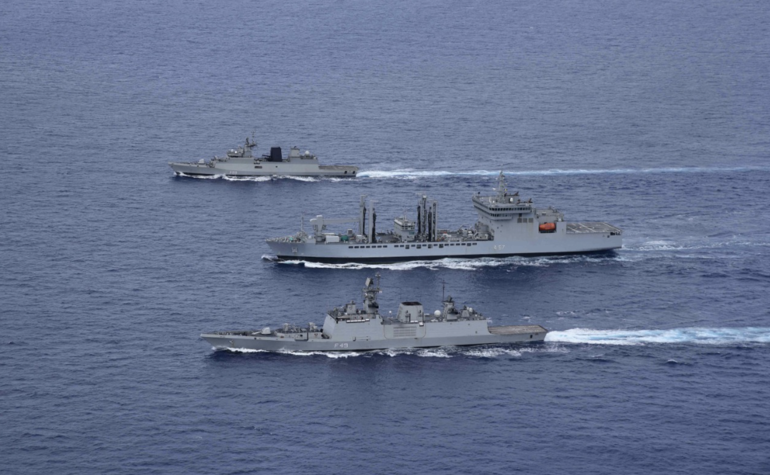 Countering China in IOR, Indian Navy Conducts Largest War Games