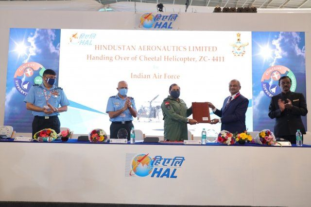 Indian Air Force Takes Delivery of First HAL Cheetal Helicopter