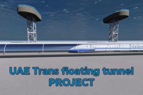 UAE Explores an Ultra-Futuristic Underwater Rail Tunnel Between Mumbai and Fujairah