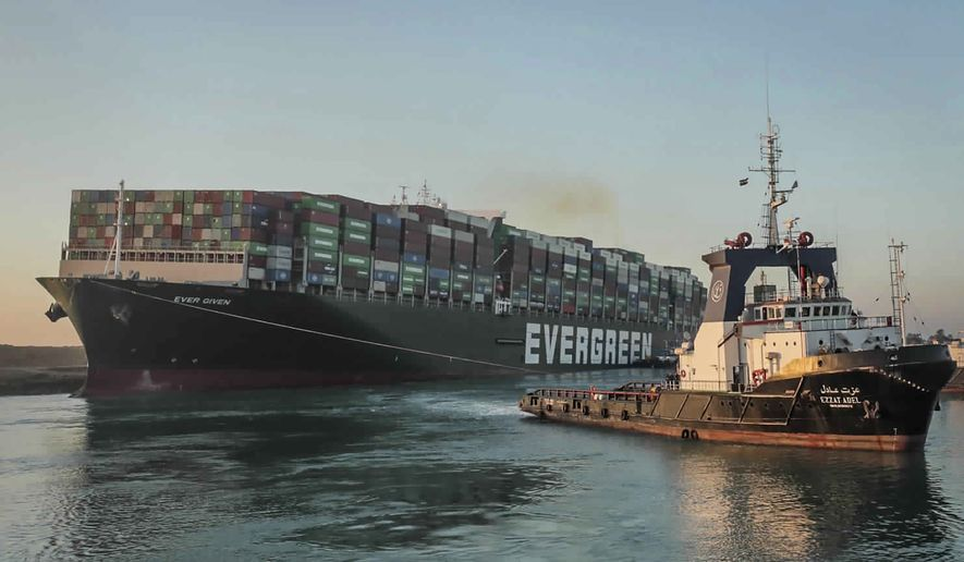 Stuck Suez Container Ship Freed And On The Move
