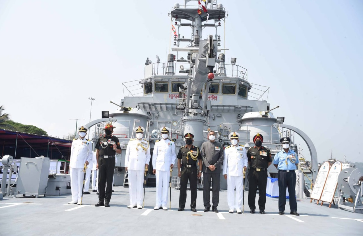 Indian Naval Landing Craft Utility L58 Commissioned At Port Blair
